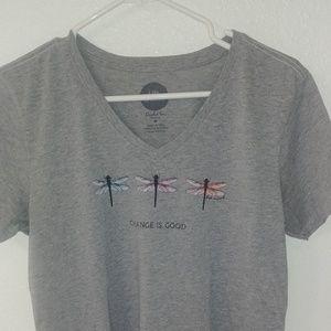 Life Is Good gray t-shirt
